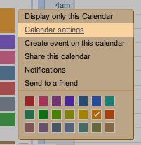 Calendar Settings