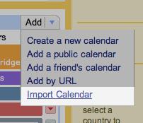 Import Calendar